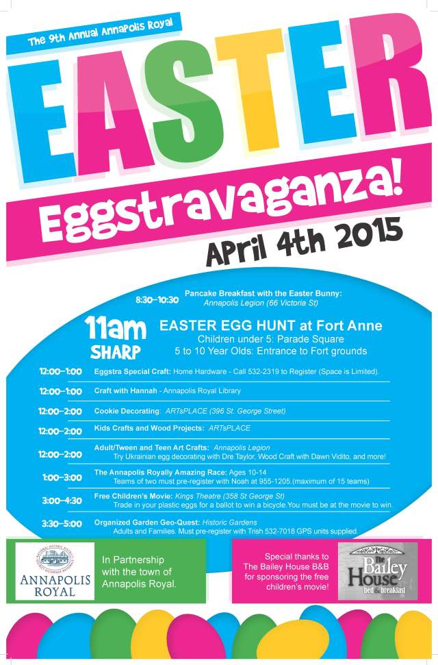 Explorer Guide, Annapolis Royal, easter Eggstravaganza
